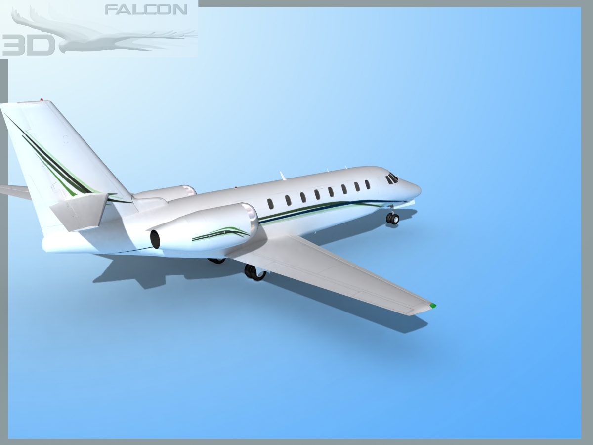 Falcon3d Citation Sovereign C680 Fs11 3d Model Max Obj 3ds Lwo Lw Lws