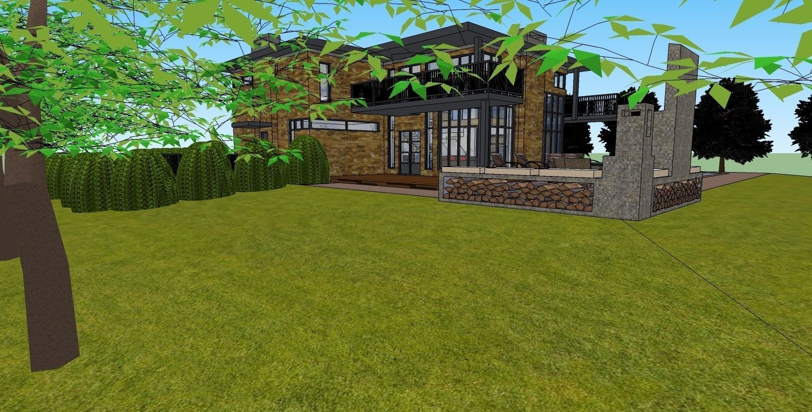 Dream House Free 3d Model Dwg Skp