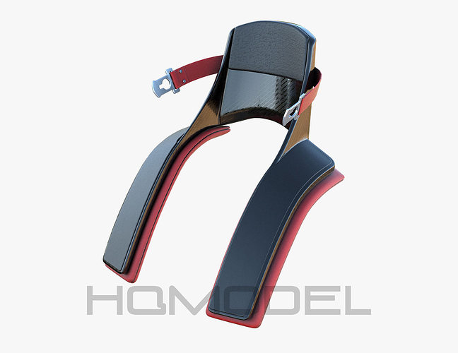 f1 neck protection formula pbr generic 3d model low-poly max obj tbscene 1