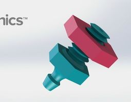 drip emitter v1 - bolt - 3dponics emitters and plugs