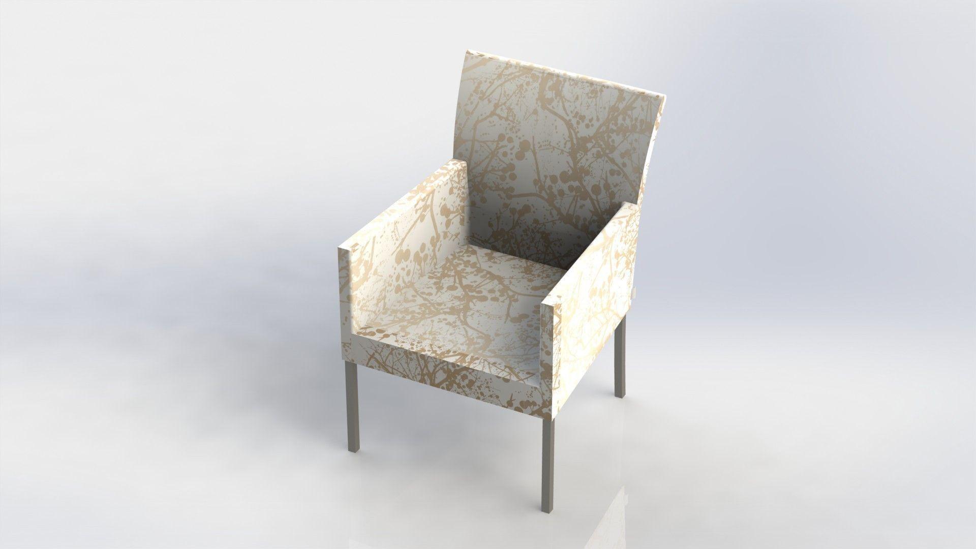 Diner chair stoel stuhl silla chaise 3d model stl for Chaise modele