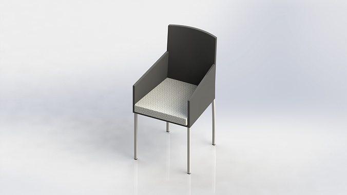 Diner chair stoel stuhl silla chaise armchair 3d model stl sldprt sldasm slddrw - Vat stoel ...