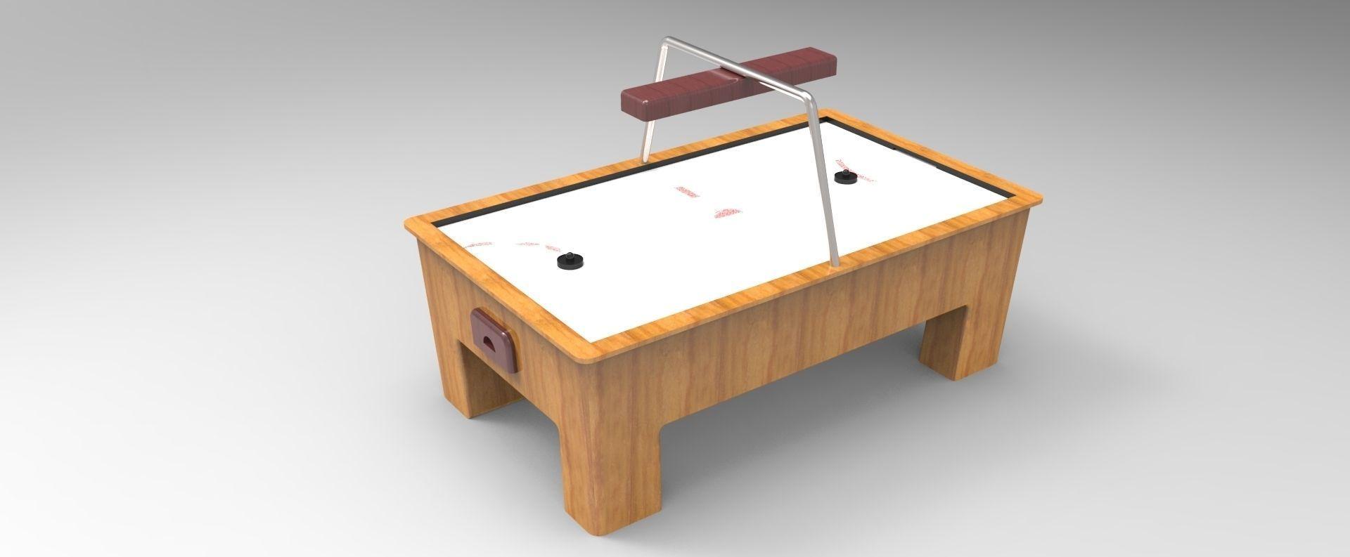 ... Air Hockey Table 3d Model Stl Dwg Sldprt Sldasm Slddrw 2