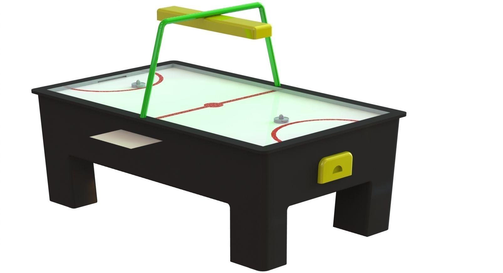 air hockey table 3d model stl dwg sldprt sldasm slddrw 1 - Air Hockey Tables