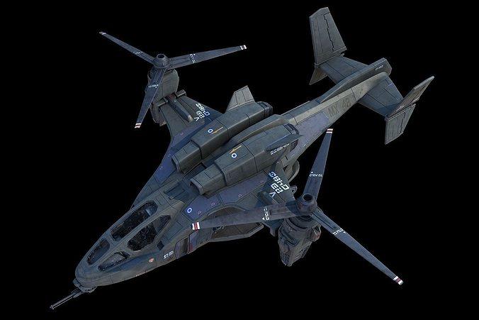 uh-144 hq-3d model 3d model rigged max 1