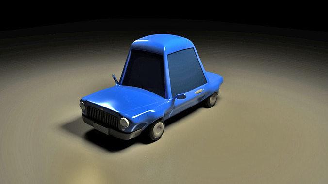as cartoon car rigged for maya 3d model rigged fbx ma mb mel 1