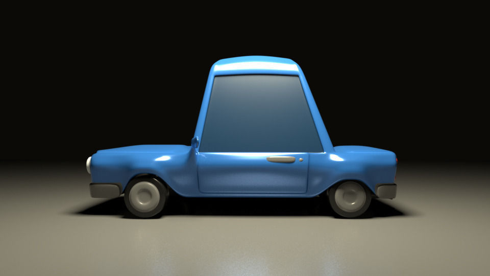 3d model as cartoon car rigged for maya cartoon cgtrader
