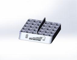 3d printable model intelligent battery holder