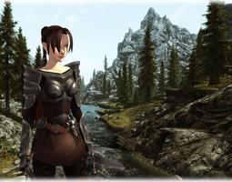 3D asset Medieval woman warrior
