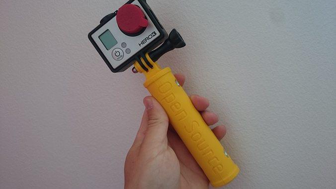 gopro hand grip 3d model stl 1
