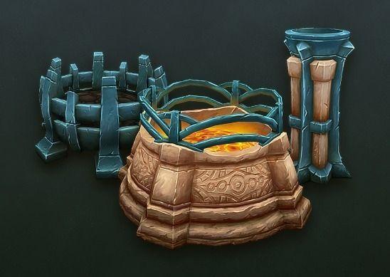 Brazier Set3D model