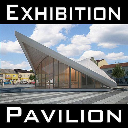 expo pavilion at city plaza 3d model max obj mtl fbx c4d 1