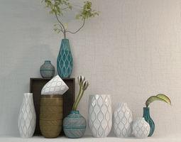 Linework Vases Honeycomb west elm 3D Model