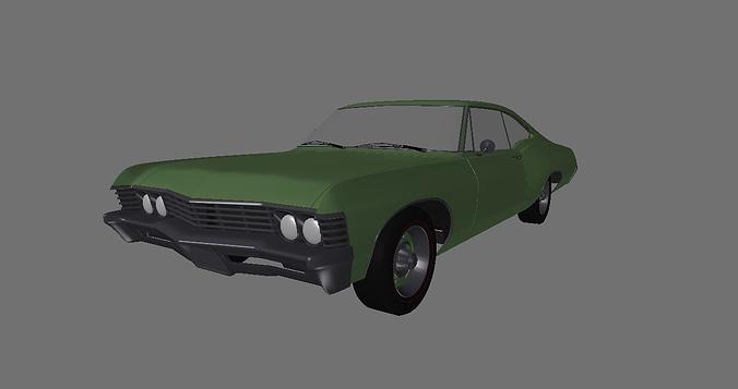 1967 chevy impala 3d model lwo lw lws 1