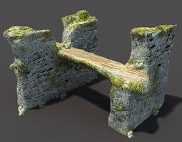English Castle Ruin 8 3D Model