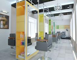 4 - Hair Salon Interior Design 3D model