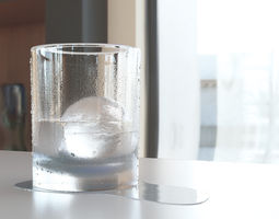 3D model Balll Glass and Ice vray