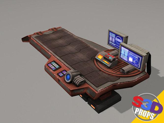 scifi repair table 3d model max obj mtl 3ds fbx tga mat 1