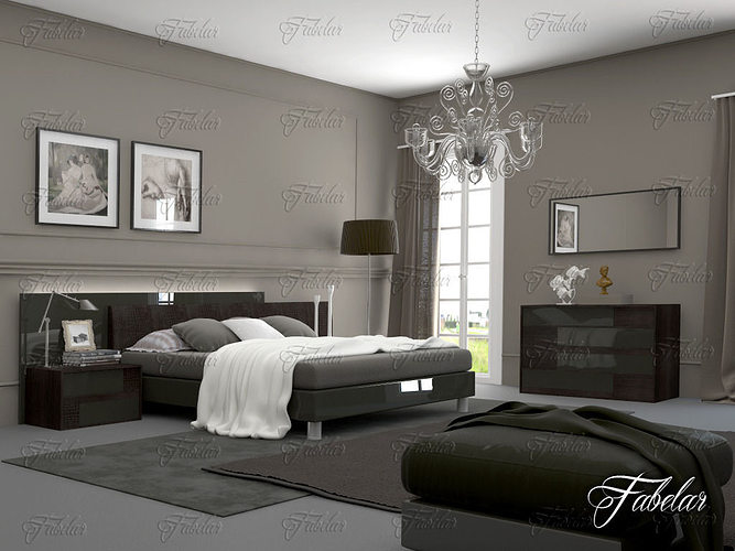 bedroom 3d model max obj 3ds fbx c4d dae 1