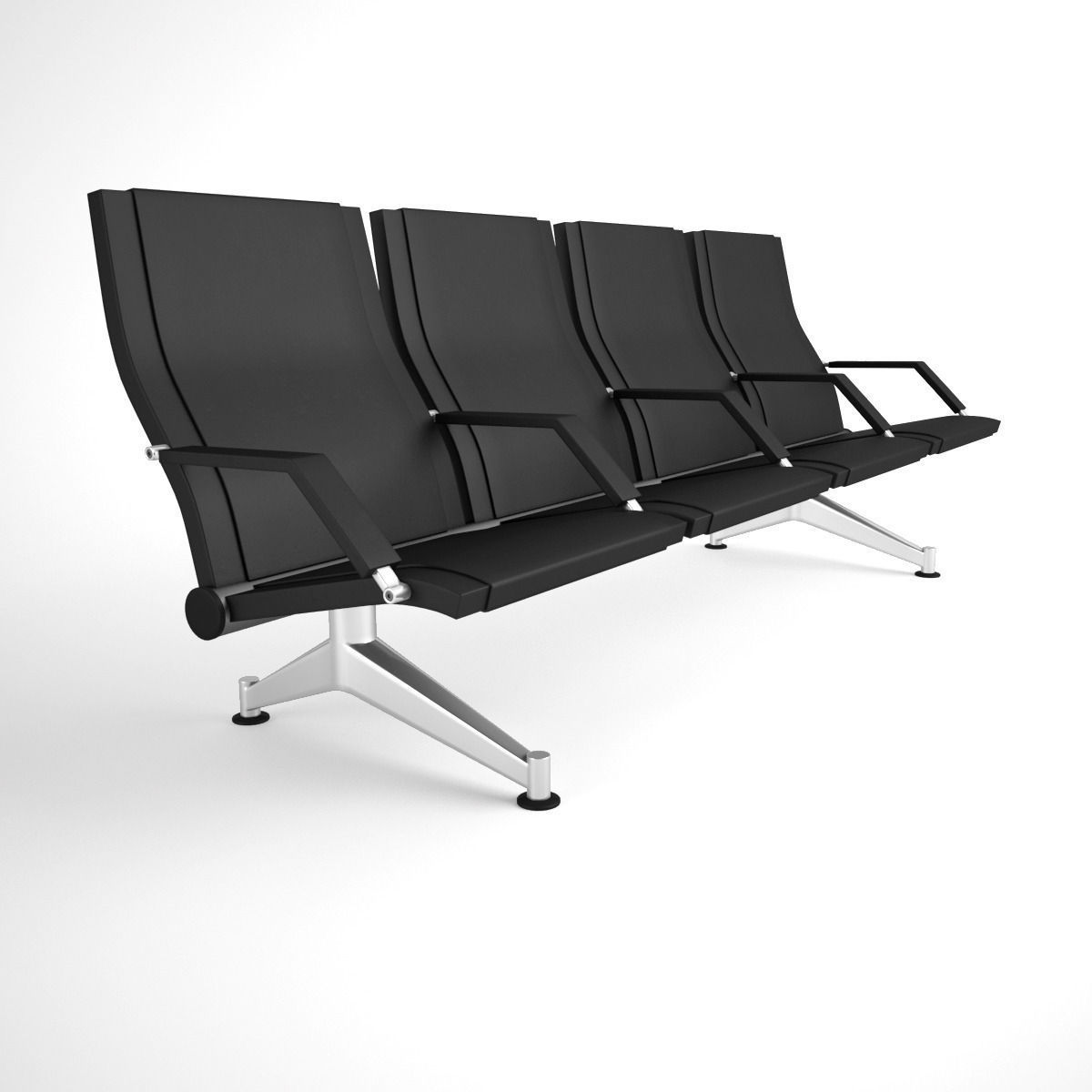 Figueras 3100 Mauro Ergonomic Benches For Airports 3d