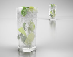 3D model Beverage with ice