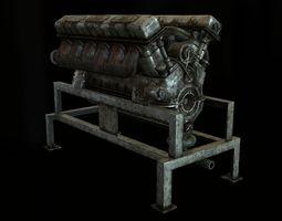 3D asset EngineBlock model01