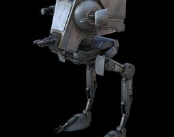 star war atst game res model 3d model low-poly rigged obj ma mb tga