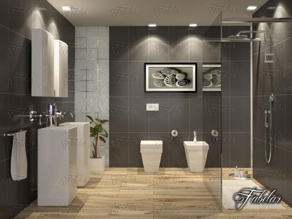 Bathroom 65 3d model max obj 3ds fbx c4d dae for Bathroom 3d