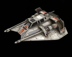star war t47 game res model 3d model low-poly obj