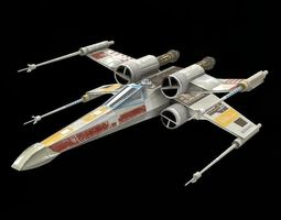 star war  xwing game res model  3d model low-poly obj