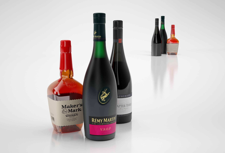 Beverage bottles | 3D model