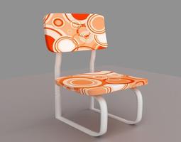 Orange Modern Chair 3D model