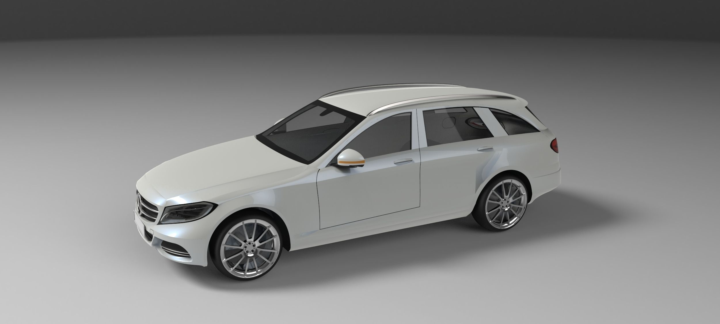 Mercedes benz c class estate s205 2014 3d model max obj for Mercedes benz c class models