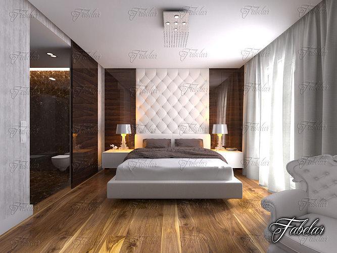bedroom 12 and bath 3d model max obj mtl 3ds fbx c4d dae 1
