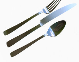 Silverware Set 3D asset