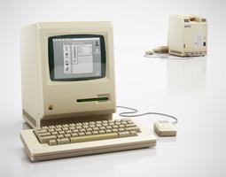 classic apple computer 3d model