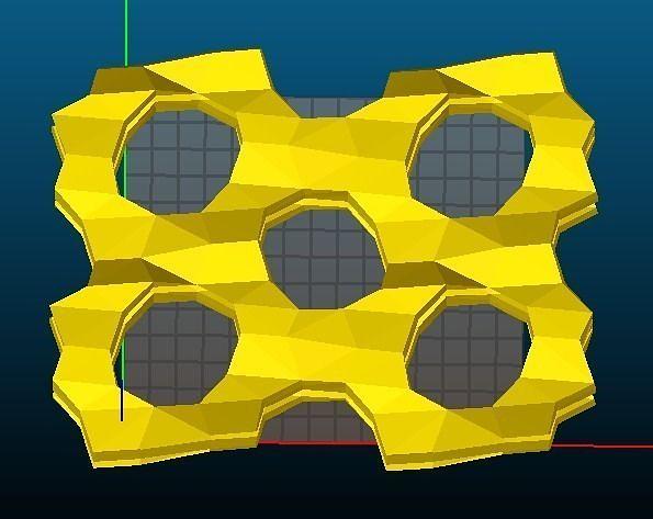 mfi-type zeolite 3d model stl 1