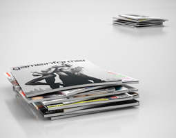 Magazines stack 3D model