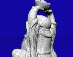 small stone carved Buddha 3D model