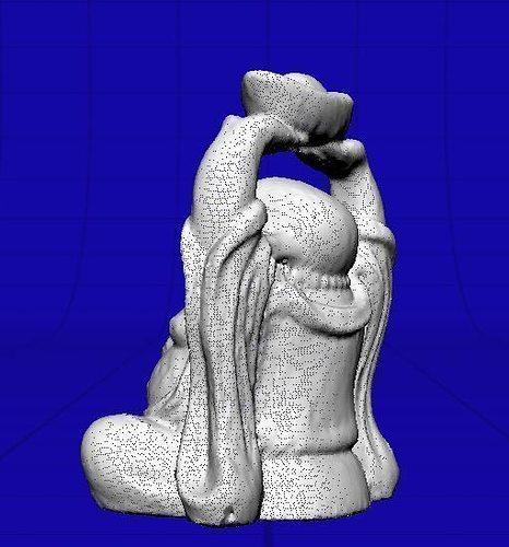 small stone carved buddha 3d model obj mtl 1