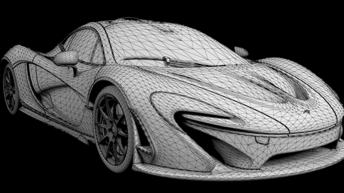 mclaren p1 highly detailed animated with interior 3d model animated max obj fbx mtl tga. Black Bedroom Furniture Sets. Home Design Ideas