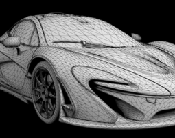 mclaren p1 highly detailed animated with interior  3d model max obj fbx mtl tga