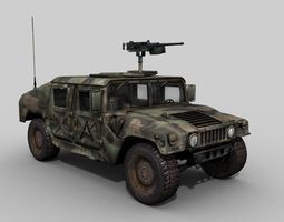 Military HMMWV Woodland 3D asset