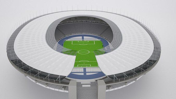 olympic berlin stadium hq 3d model low-poly max obj mtl fbx tga 1