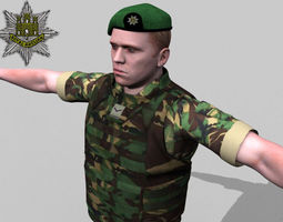 3D British Royal Anglian Woodland Rigged soldier