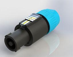 3D printable model Speakon - Audio Speaker Twist Connector