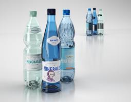 3D model Mineral water bottles