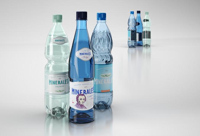 Mineral water bottles 3d model max obj 3ds c4d for Diy mineral water bottle