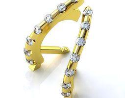 3d printable model earrings shel 2