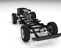 3d model offroad truck chassis